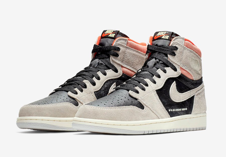 Air Jordan 1 Neutral Grey Hyper Crimson 555088 018 Release