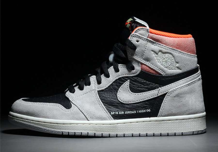 ad5906c3630bc5 Air Jordan 1 OG Neutral Grey Hyper Crimson White Black 555088-018 Release  Date