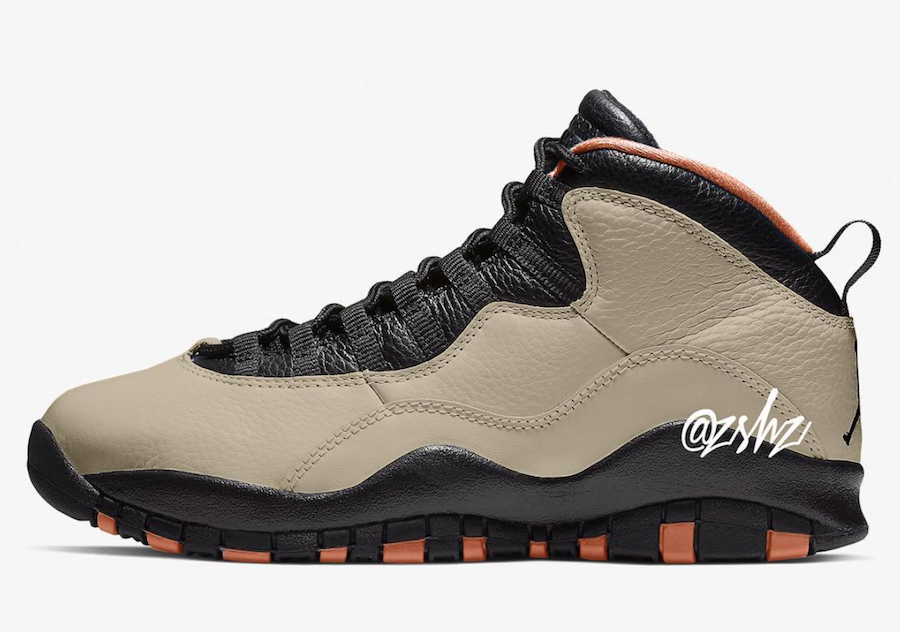Air Jordan 10 Rattan Black Dusted Clay 310805-200 Release Date