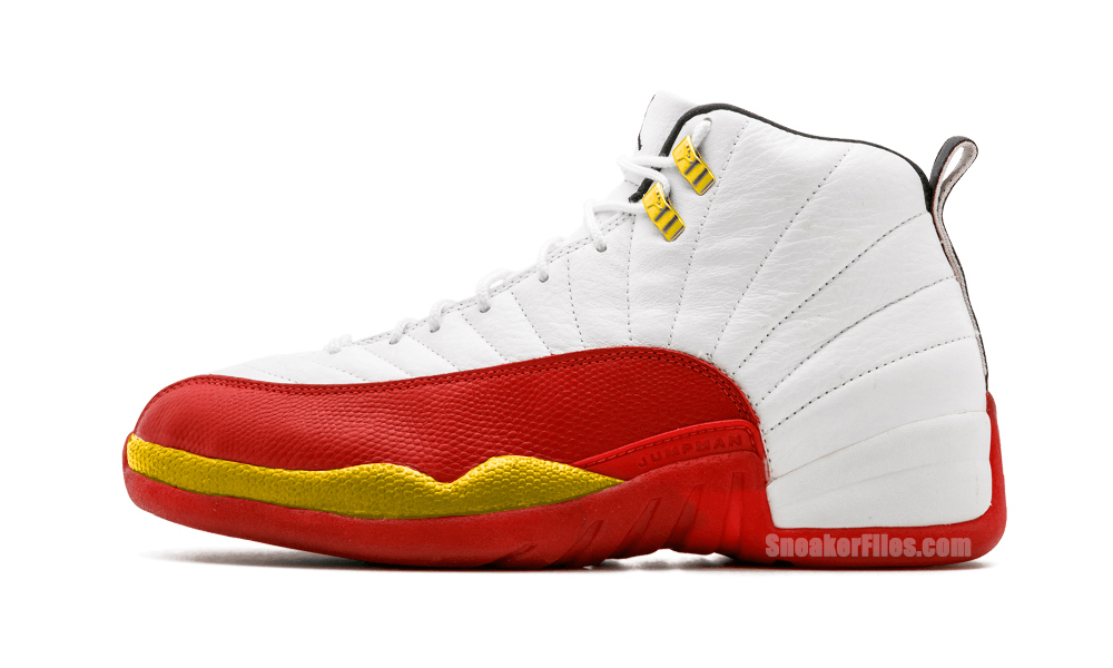 Air Jordan 12 FIBA White Red Gold 130690-107