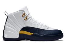 Air Jordan 12 Michigan Home White Amarillo Metallic Gold Midnight Navy 130690-147 Release Date