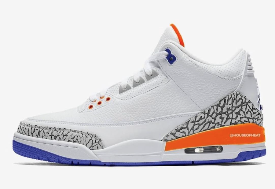 Air Jordan 3 Knicks Rivals 136064-148 Release Date