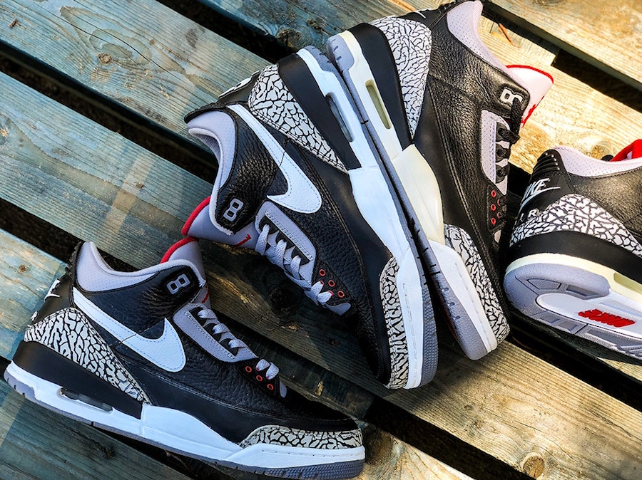 Air Jordan 3 Tinker Black Cement 2019 Release Date