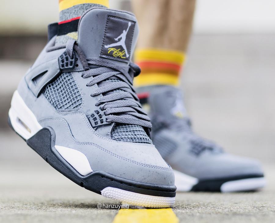 Air Jordan 4 Cool Grey 2019 On Foot