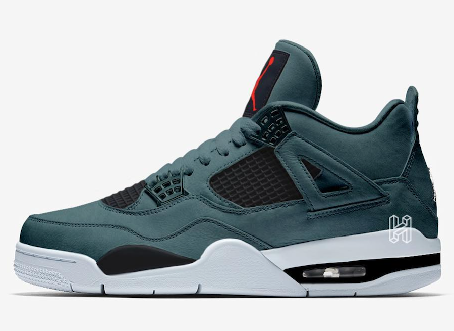 Air Jordan 4 Faded Spruce Ocean Cube Habanero Red CJ7310-300 Release Date