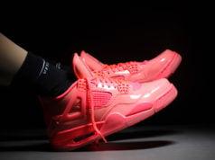 Air Jordan 4 NRG Hot Punch Black Volt Womens AQ9128-600