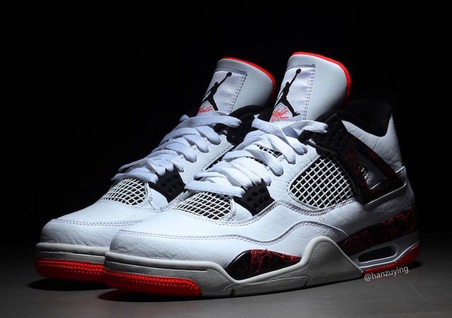 Air Jordan 4 Pale Citron White Black Light Crimson 308497-116 26479f0b0