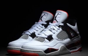 Air Jordan 4 Pale Citron White Black Light Crimson 308497-116