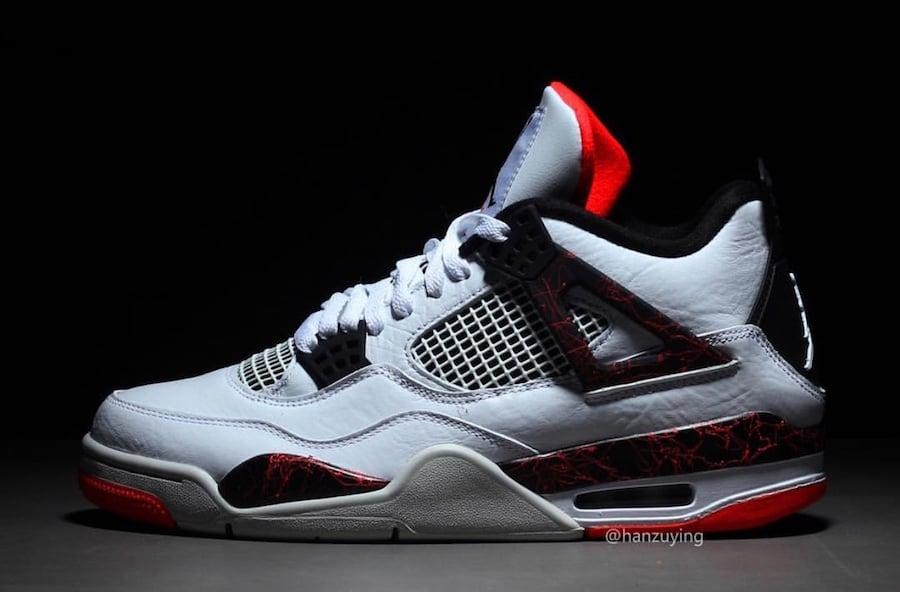 Air Jordan 4 Pale Citron White Black Light Crimson 308497-116