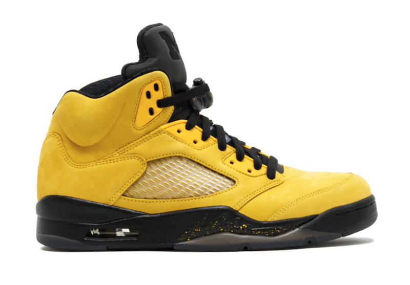 Air Jordan 5 Michigan Amarillo College Navy CQ9541-704 Release Date