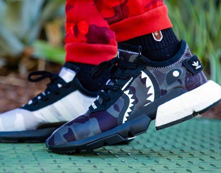 Bape Neighborhood adidas POD S3.1 EE9431 On Feet