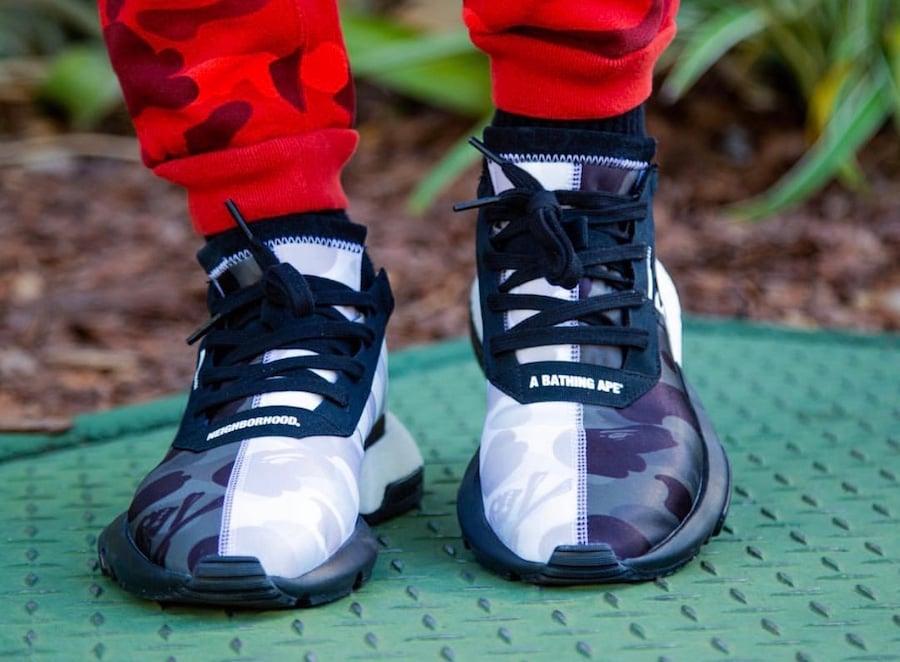 Bape Neighborhood adidas POD S3.1 EE9431 On Feet