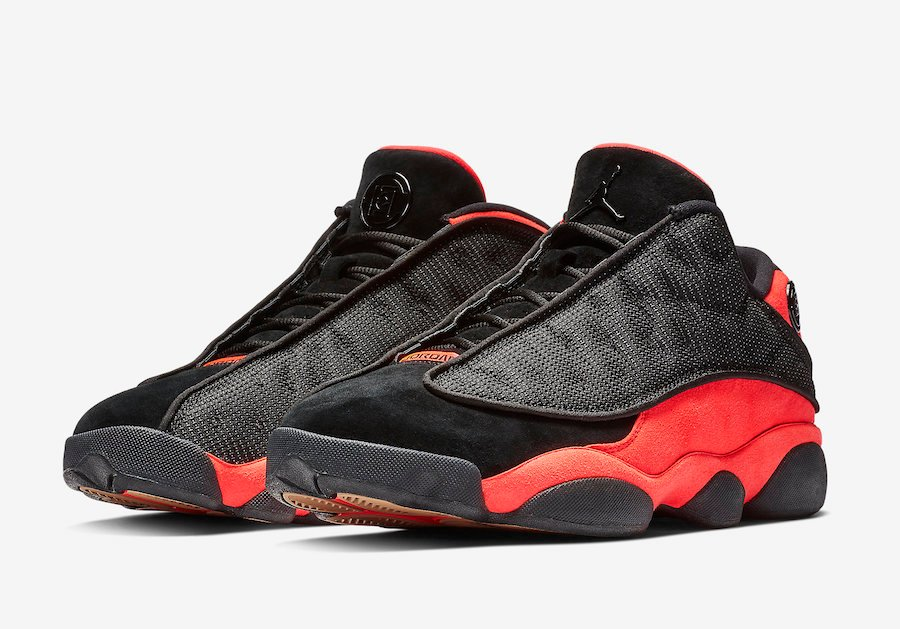 Clot Air Jordan 13 Low Black Infrared AT3102-006 Release Date Info Price