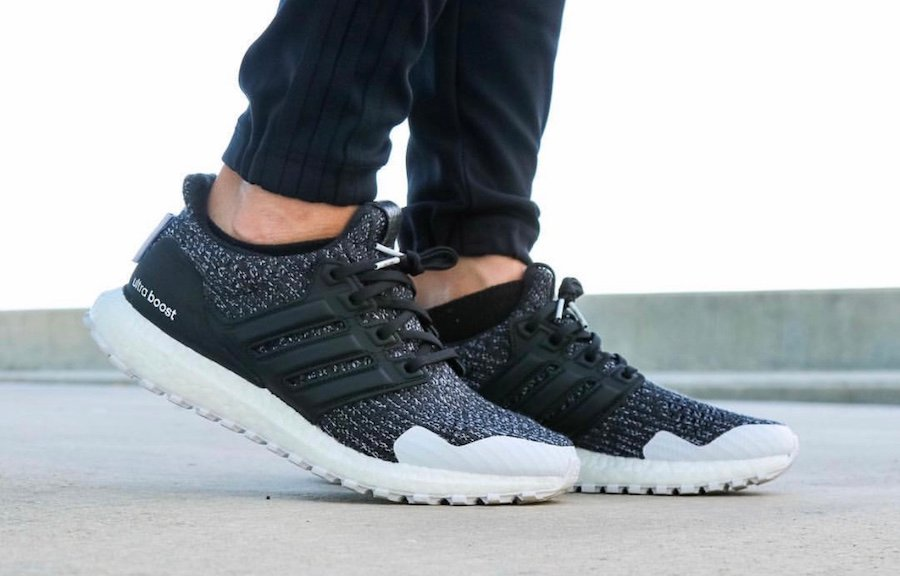 Game of Thrones adidas Ultra Boost Nights Watch On Feet