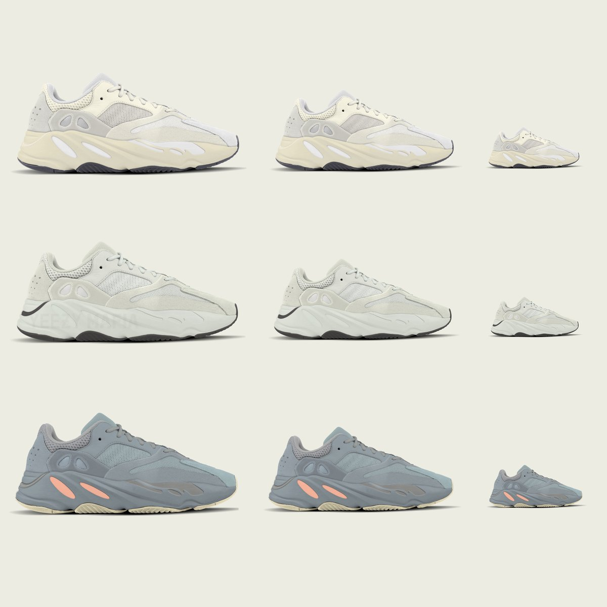 Kids adidas Yeezy Boost 700 2019 Toddler Infant Sizes