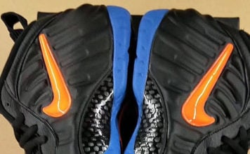 Nike Air Foamposite Pro Knicks Black Battle Blue Total Orange 624041-010 Release Date Info