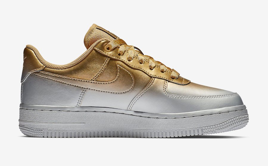 Nike Air Force 1 Low 898889-012 Silver Gold Release Date