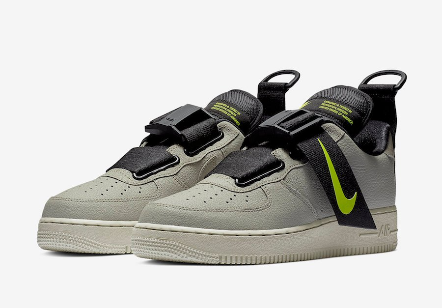 AO1531 301 Nike Air Force 1 Utility Spruce Fog//Black-Volt