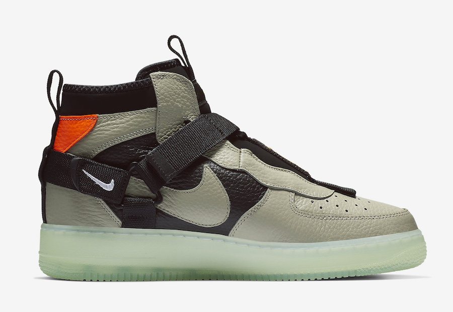 Nike Air Force 1 Mid Utility Spruce Frog Black Frosted Spruce AQ9758-300