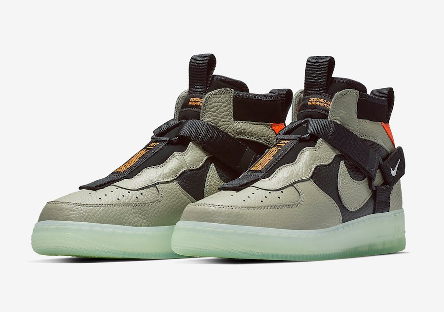 the latest bb7a9 14dfc Nike Air Force 1 Mid Utility Spruce Frog Black Frosted Spruce AQ9758-300