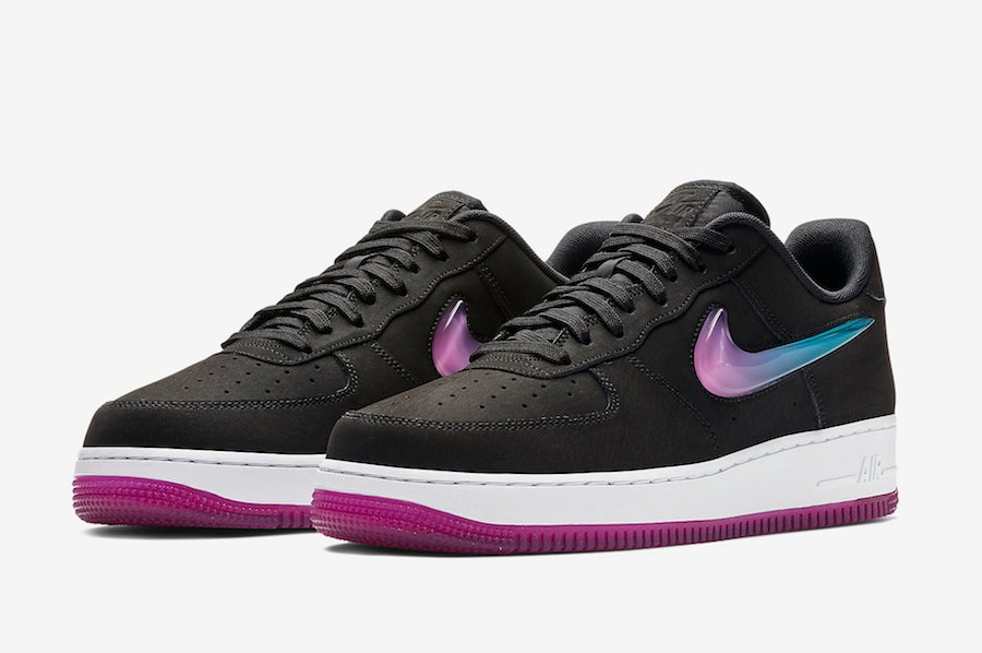 Nike Air Force 1 Premium Active Fuchsia Blue Lagoon AT4143 001