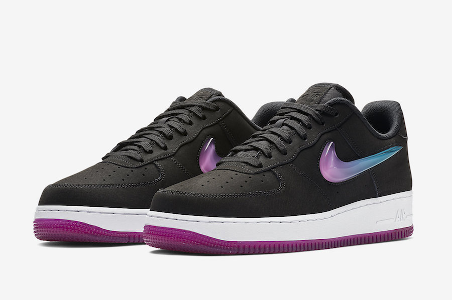 best service 485f1 8712c Nike Air Force 1 Premium Active Fuchsia Blue Lagoon AT4143 001