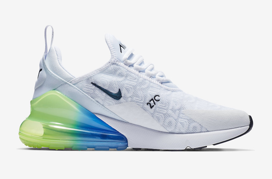Nike Air Max 270 White Explosion Green Yellow AQ9164-100