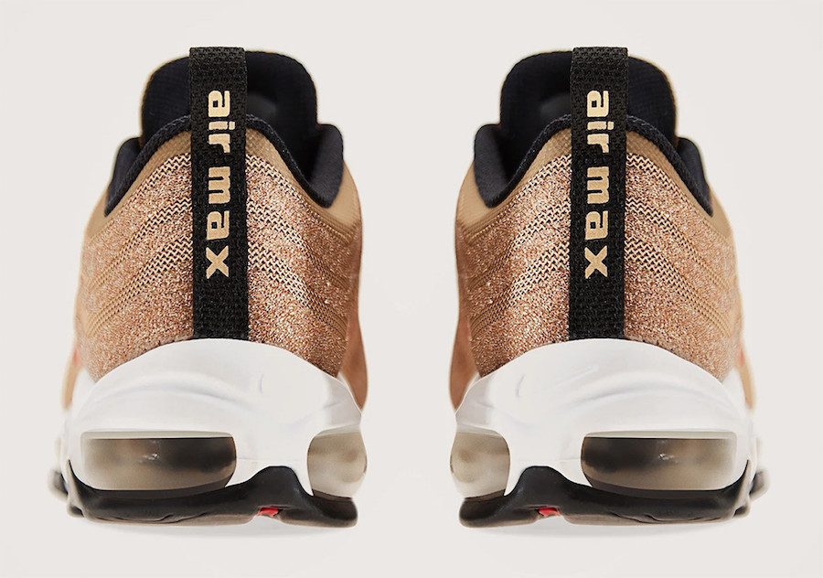 cde2c3f2555b35 Nike Air Max 97 Swarovski Metallic Gold 927508-700 Release Date ...