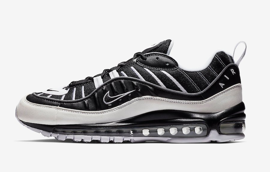 Nike Air Max 98 White Black 640744-010 Release Date