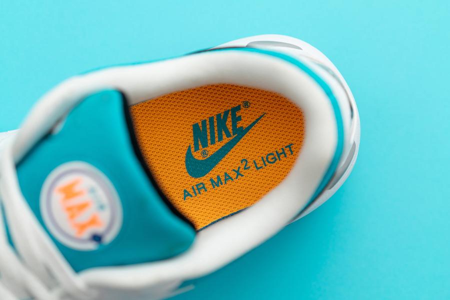 Nike Air Max2 Light OG Blue Lagoon Laser Orange AO1741-100