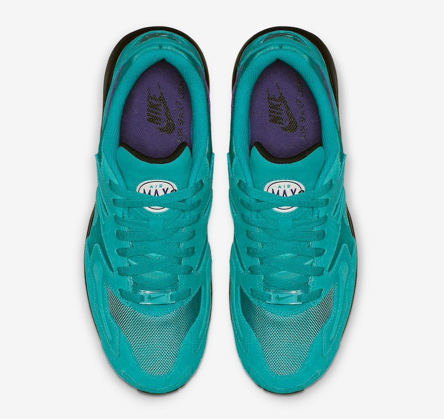 Nike Air Max2 Light Reverse Grape Teal Purple AO1741-300 Release Date