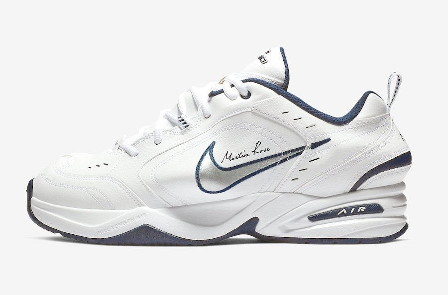 Nike Air Monarch Martine Rose White AT3147-100 Release Date