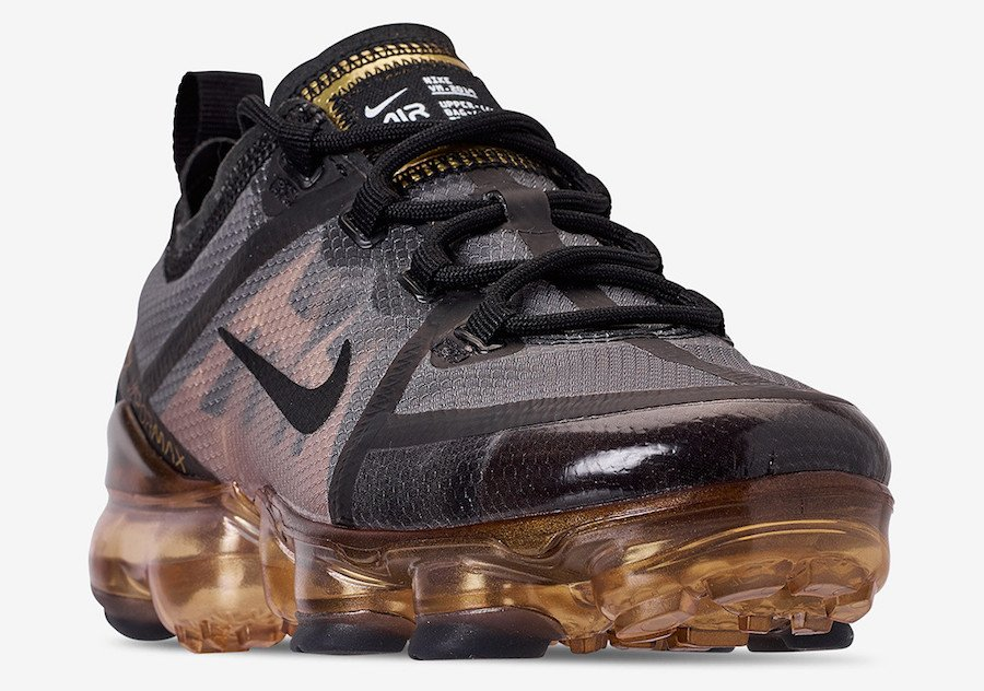 Nike Air VaporMax 2019 Black Metallic Gold AR6631-002