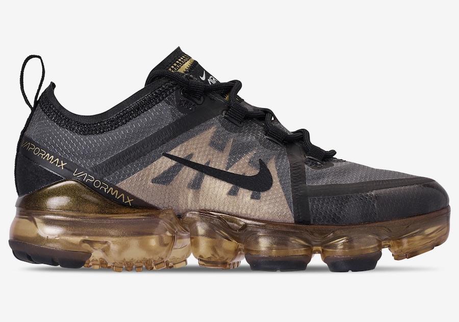 Nike Air VaporMax 2019 Black Metallic Gold AR6631-002