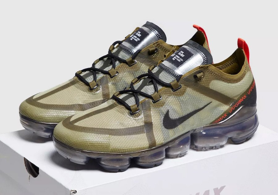 buy popular fd069 77bc2 Nike Air VaporMax 2019 Olive Green Release Date