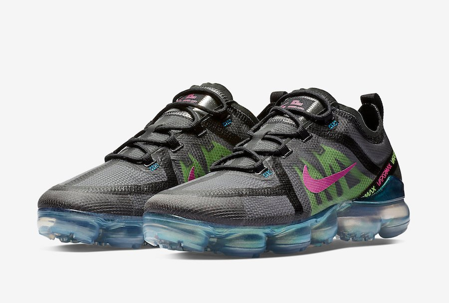 Nike Air VaporMax 2019 PRM Active Fuchsia Lime Blast AT6810-001 Release Date