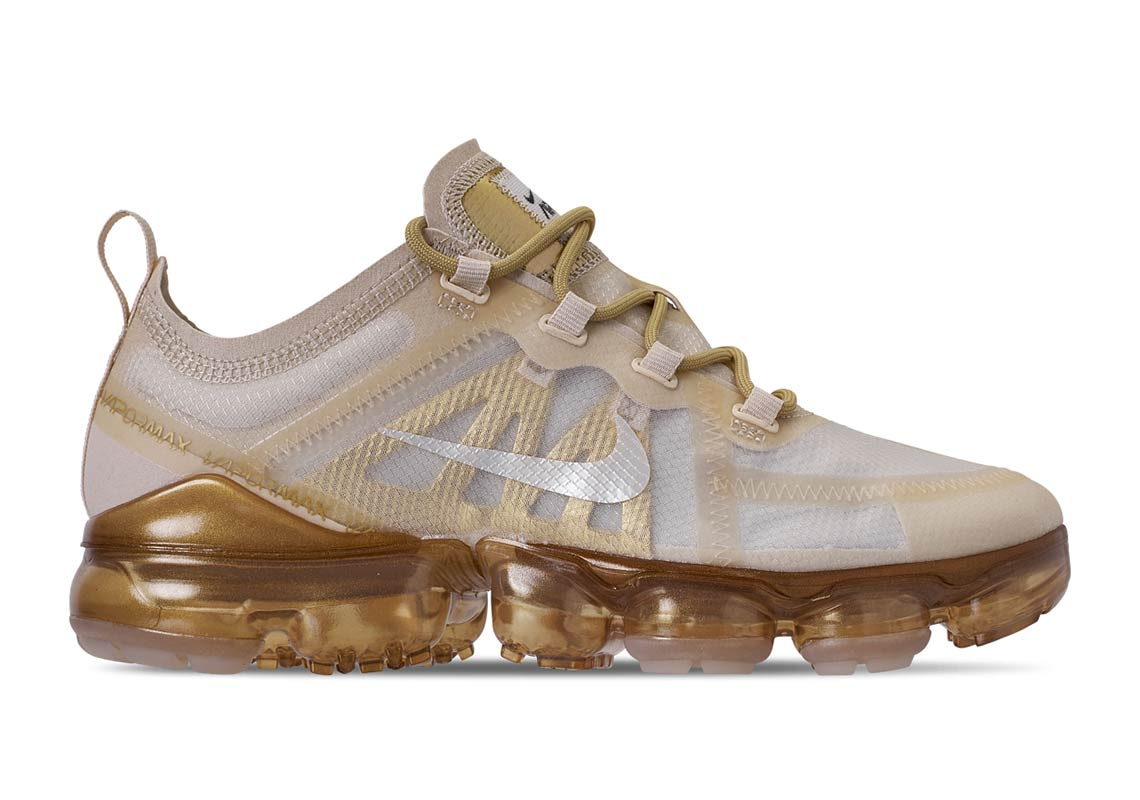 Nike Air VaporMax 2019 'White Gold' Releasing Soon