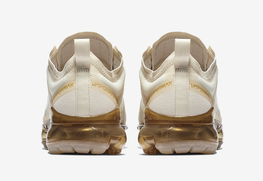 Nike Air VaporMax 2019 White Metallic Gold AR6632-101