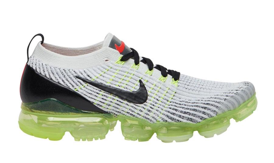 2b3aaa4dc6a9 Nike Air VaporMax 3.0 White Volt Black Crimson AJ6900-100 Release Date