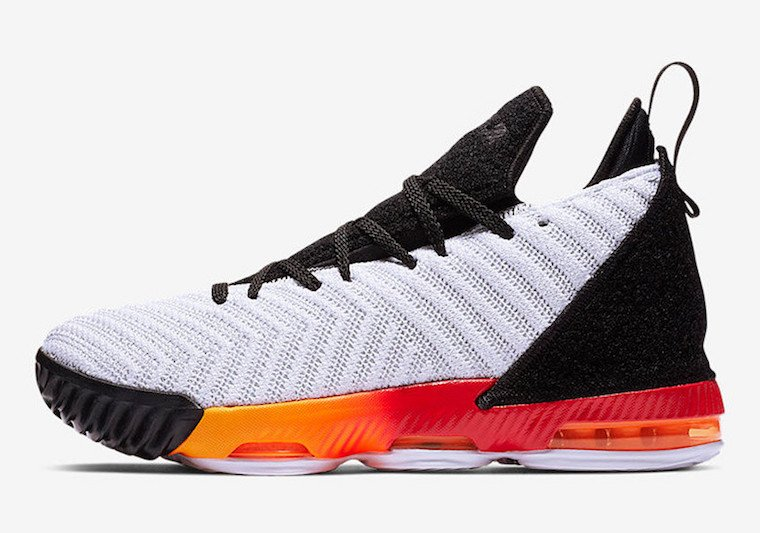 Nike LeBron 16 Kids White Red Orange Black Release Date