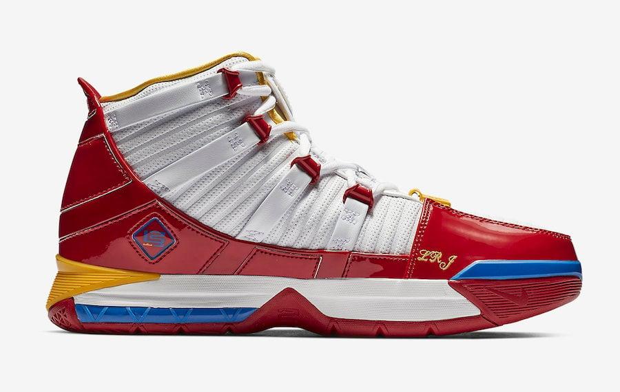 Nike LeBron 3 SuperBron SuperMan AO2434-100 Release Date