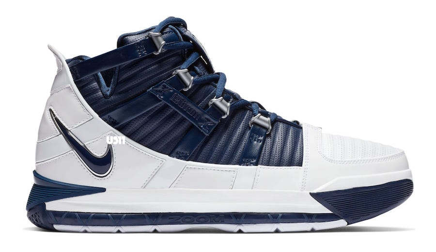 Nike LeBron 3 White Navy AO2434-103 Release Date