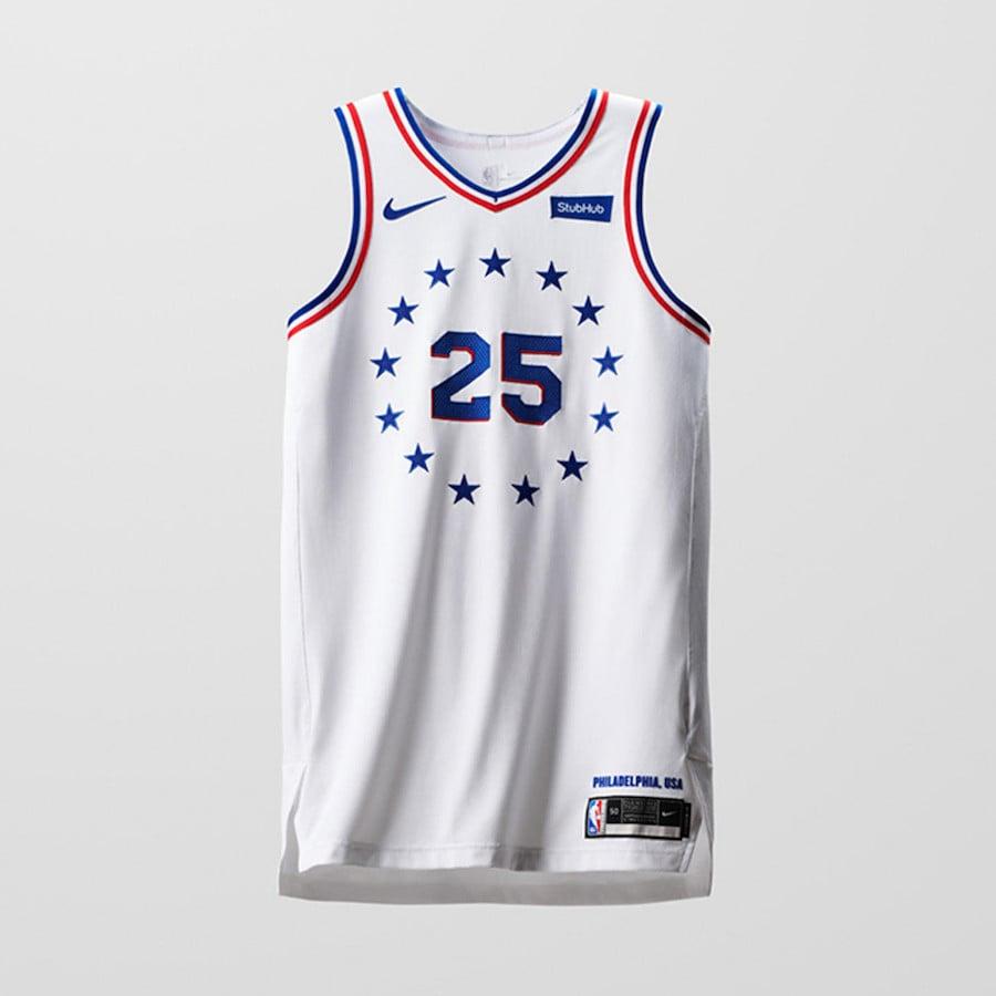 Nike NBA Earned Edition Uniforms 76ers