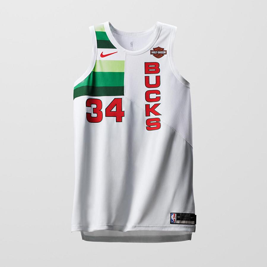 Nike NBA Earned Edition Uniforms Bucks