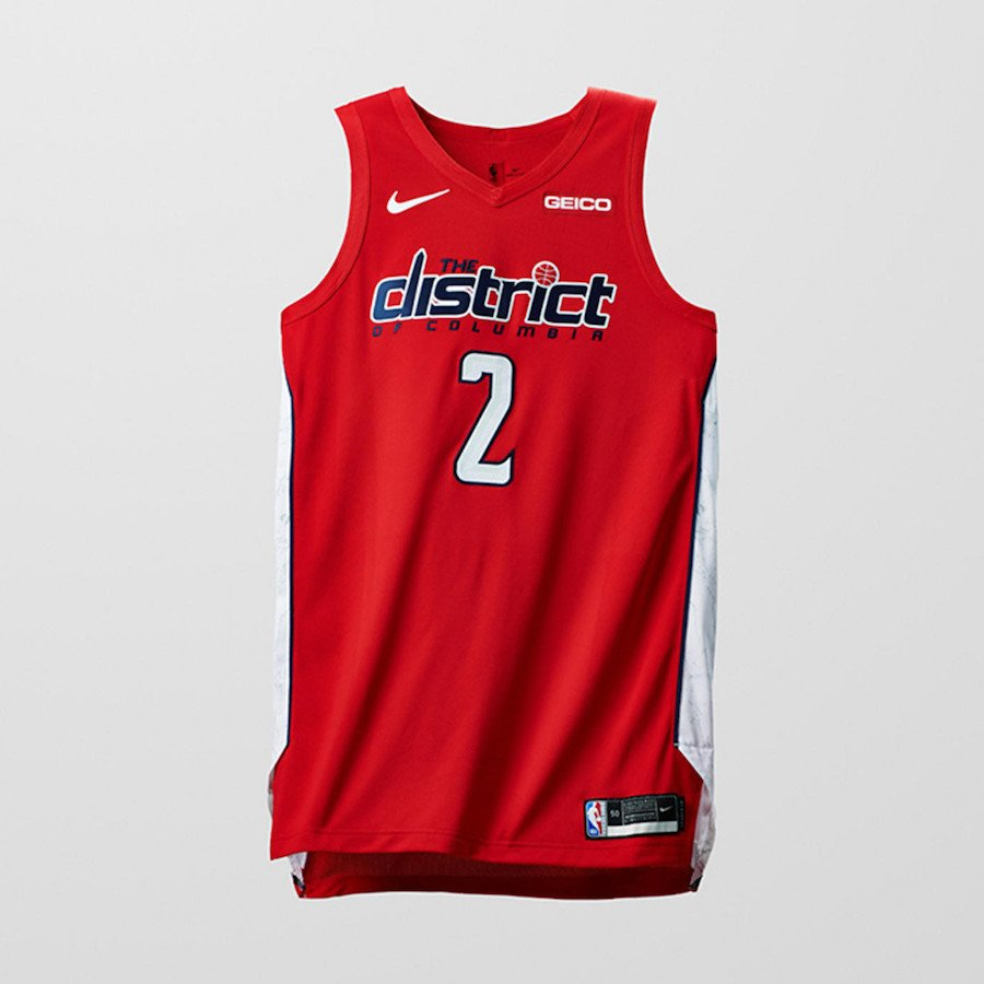 Nike NBA Earned Edition Uniforms Wizards