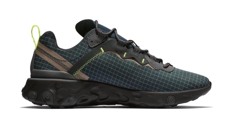 Nike React Element 55 Grid Dark Green