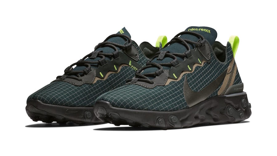 new product bec83 bad59 Nike React Element 55 Grid Dark Green
