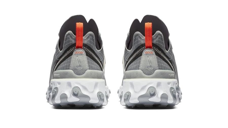 Nike React Element 55 Grid Grey Orange