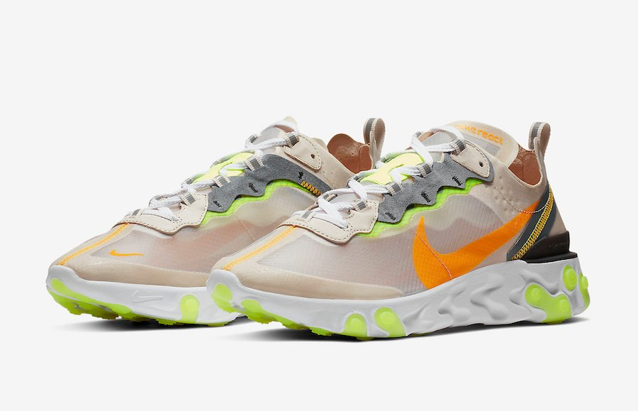 945ed710 Nike React Element 87 Light Orewood Brown AQ1090-101 Release Date