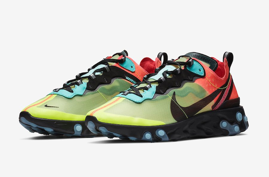 Nike React Element 87 Volt Racer Pink AQ1090-700 Release Date